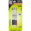 Zebra F-301 Medium Retractable Ballpoint 1.0mm Assorted 3pk