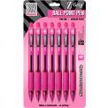 Zebra Z-Grip® Retractable Ballpoint Pen, 1.0mm, Pink Ink, 7/Pack - Pkg Qty 6