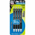 Zebra Z-Mulsion® EX Retractable Ballpoint Pen, 1.0mm, Black Ink, 4/Pack - Pkg Qty 6