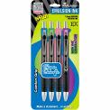 Zebra Z-Mulsion® EX Retractable Ballpoint Pen, 1.0mm, Assorted Ink, 4/Pack - Pkg Qty 6