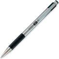 Zebra F-301 Ballpoint Retractable Pen, Stainless Steel Barrel, Refillable, 0.7mm, Black Ink