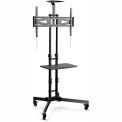 "Loctek Universal Mobile Cart TV Stand for 32""-65"" LED/LCD/Plasma Displays"