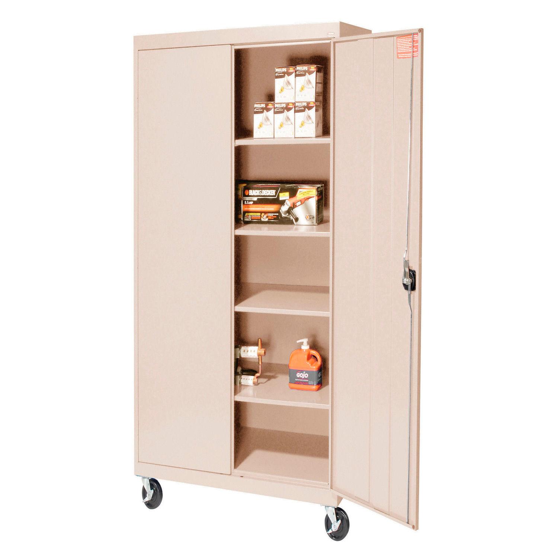 Sandusky Mobile Storage Cabinet TA4R362472 - 36x24x78, Sand