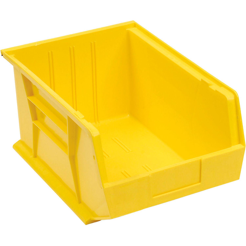 Quantum 4 x Quantum Plastic Storage Bin - Parts Storage Bin QUS255 11 x 16 x 8 Yellow - Pkg Qty ...