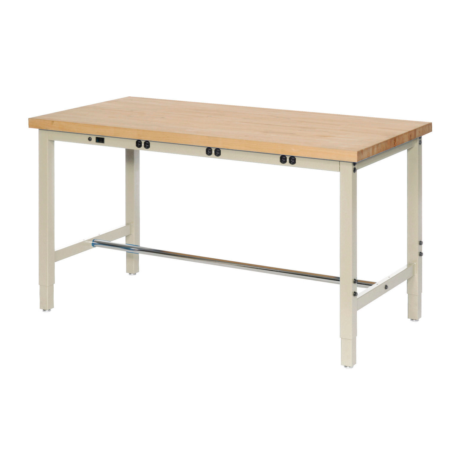 Surprising Work Bench With Electric Adjustable Height 72Quotw X Ibusinesslaw Wood Chair Design Ideas Ibusinesslaworg