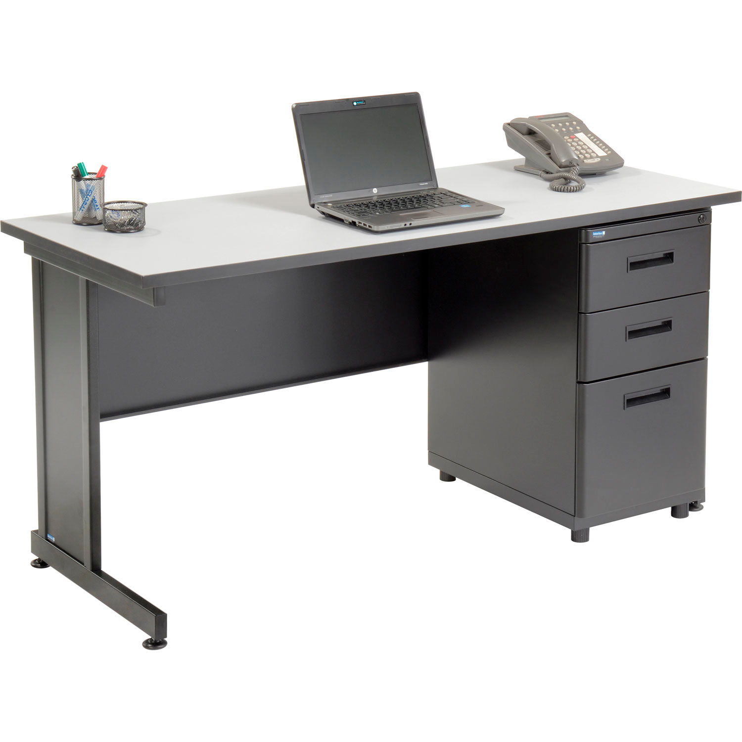 Desks Office Collections Office Desk With 3 Drawers