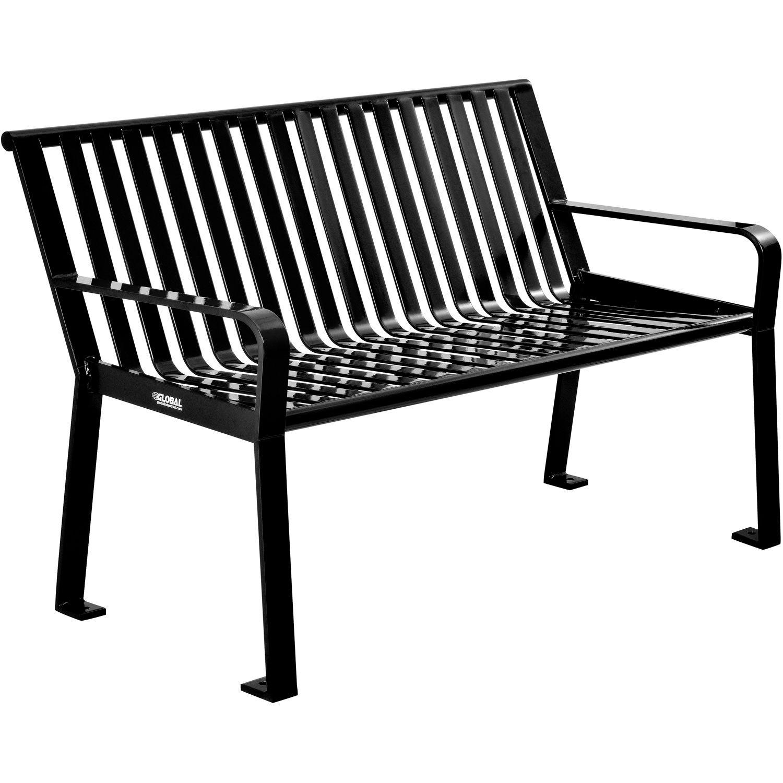 Sensational Benches Picnic Tables Benches Steel 4 Ft Outdoor Creativecarmelina Interior Chair Design Creativecarmelinacom