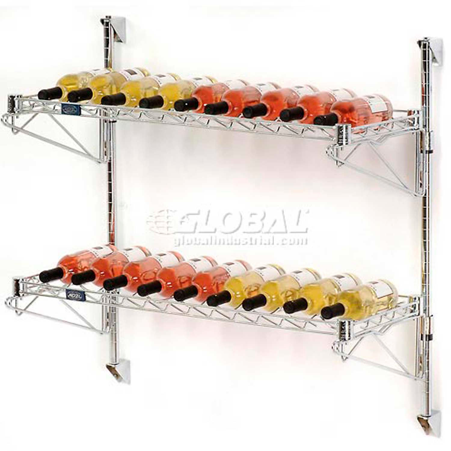 Nexel Wine Bottle Rack - Wall Mount 18 Bottle 36