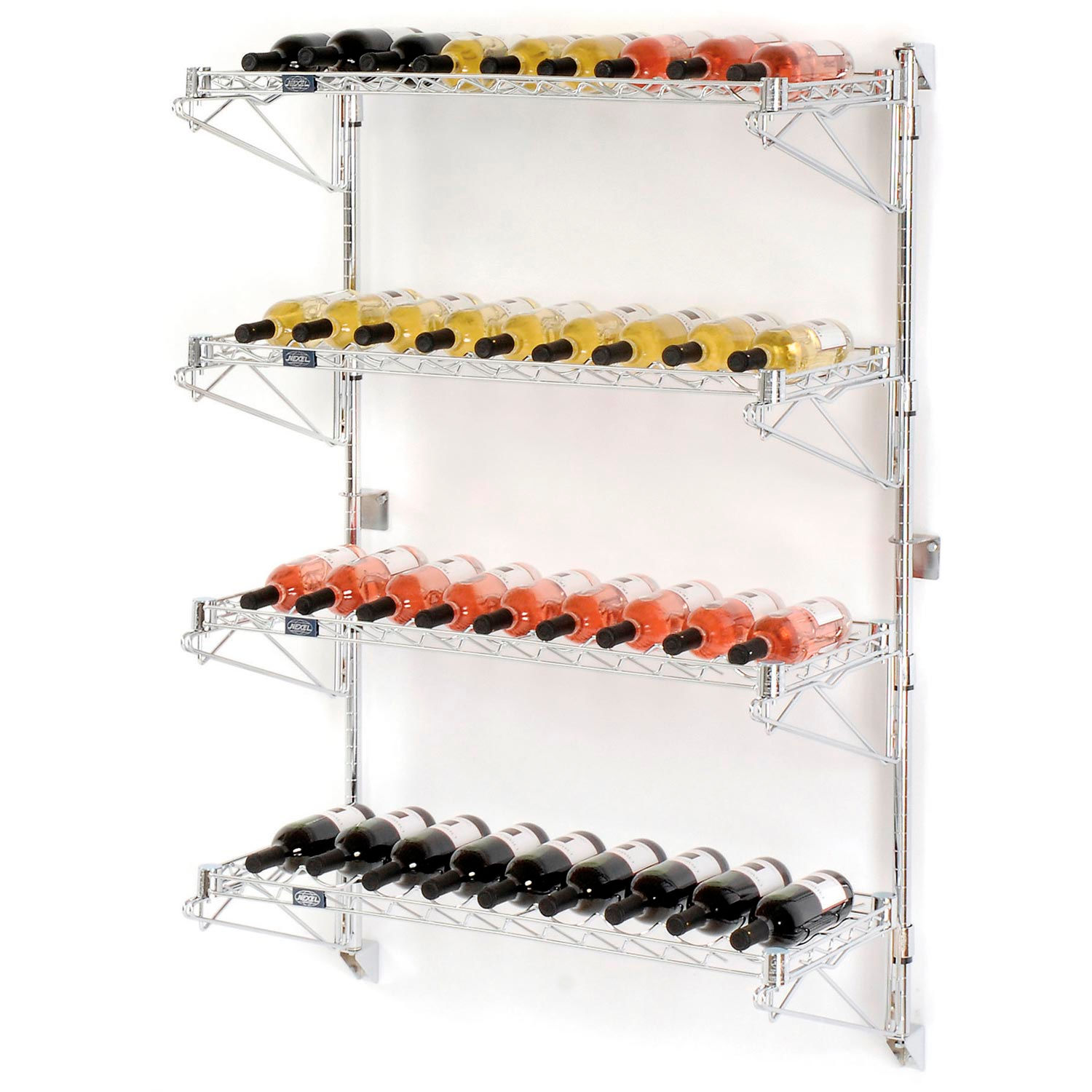 Nexel Wine Bottle Rack - Wall Mount 36 Bottle 36
