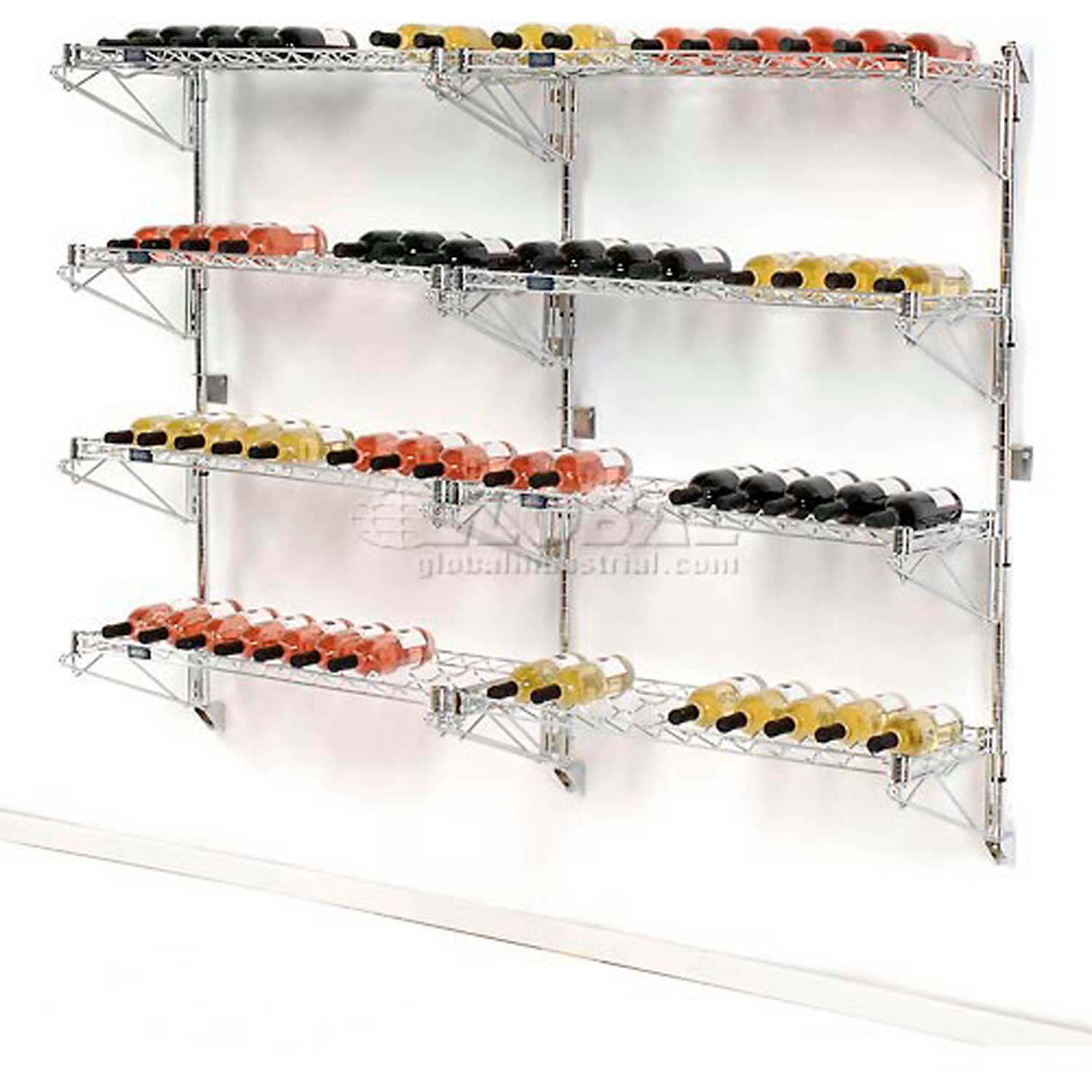 Nexel Wine Bottle Rack - Wall Mount 72 Bottle 36