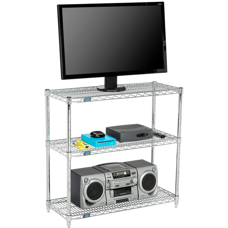 Wire Shelving Chrome Nexel 24 X 14 3 Shelf Media