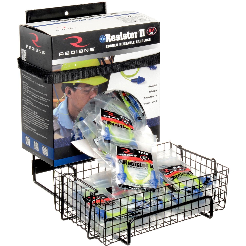 Rackems Earplug Dispenser Box Rack with Anti-Spill Tray