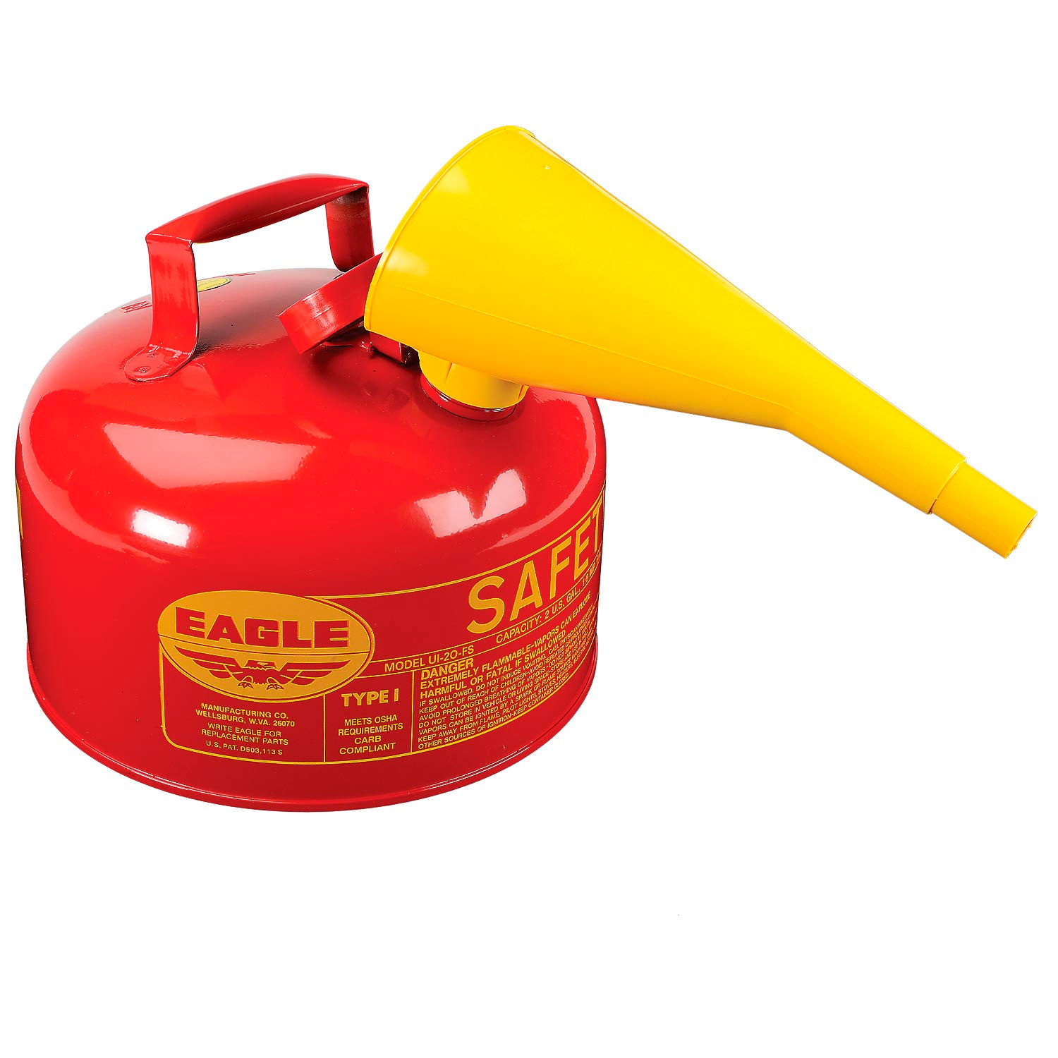 3-Red Metal Safety Gas Fuel Can Funnel Replace Eagle UI 10 20 50 FS Spout F-15