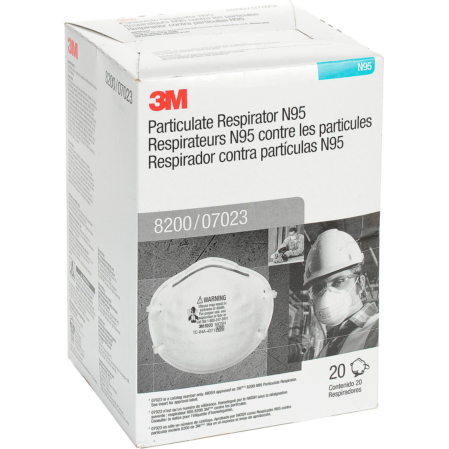 Protection Respiratory Respirators 8200 Disposable 3m™