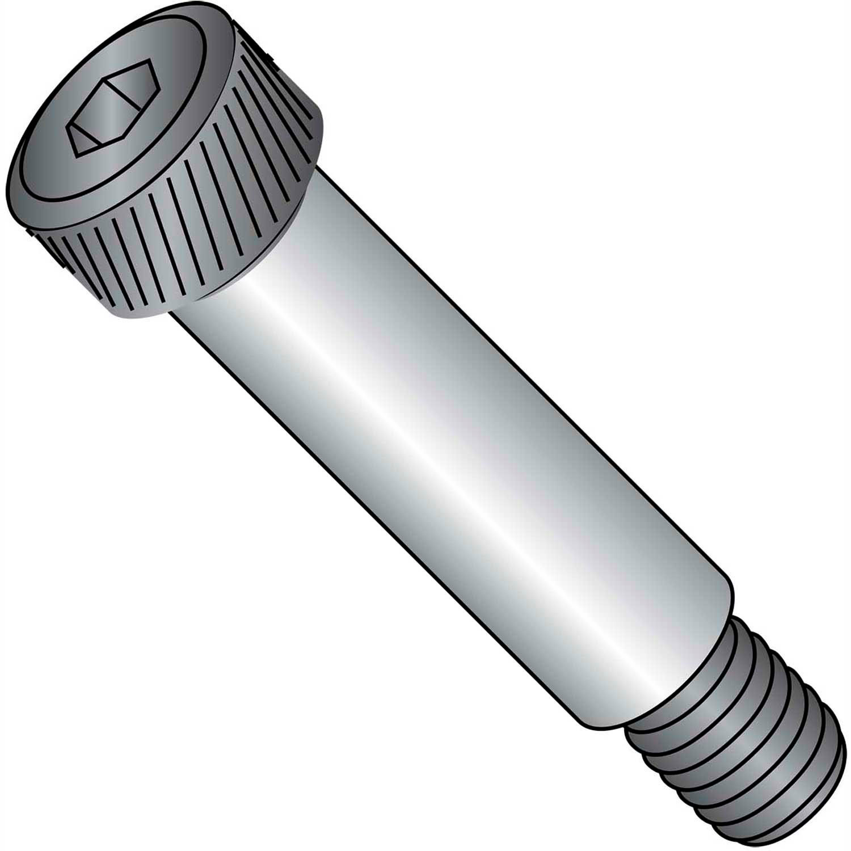 1//2-16 x 4 Coarse Thread Socket Shoulder Screw Alloy Steel Thermal Black Oxide Pk 10