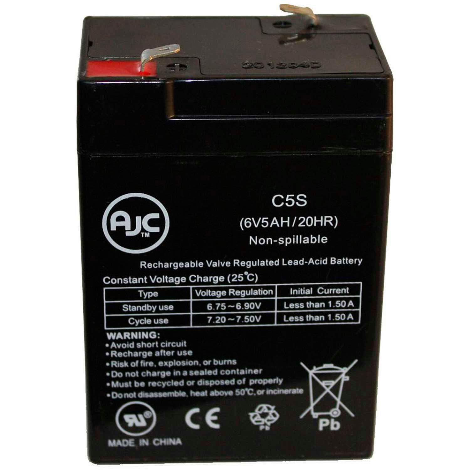 Pignose Hog 20 6V 5Ah Amplifier Battery This is an AJC Brand Replacement