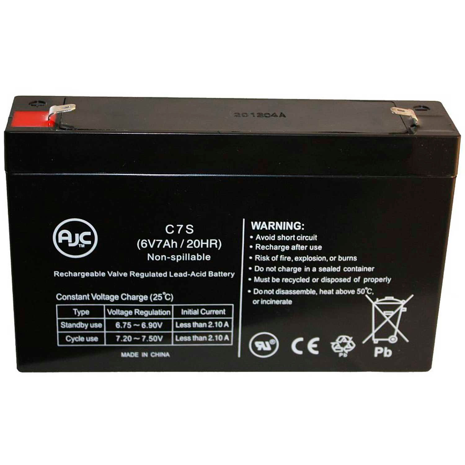 VRLA Battery Long Way LW-3FM7 Sealed Lead Acid AGM This is an AJC Brand Replacement