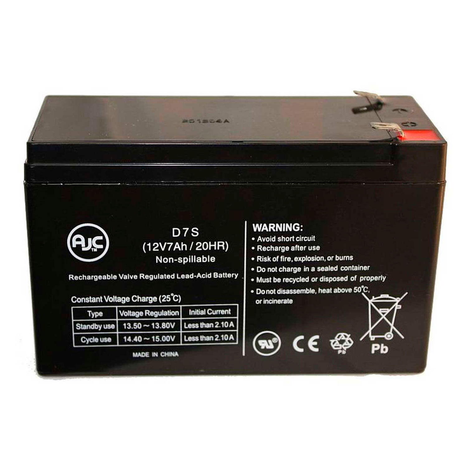 VRLA Replacement Battery Long Way LW-6FM7.6J Sealed Lead Acid AGM