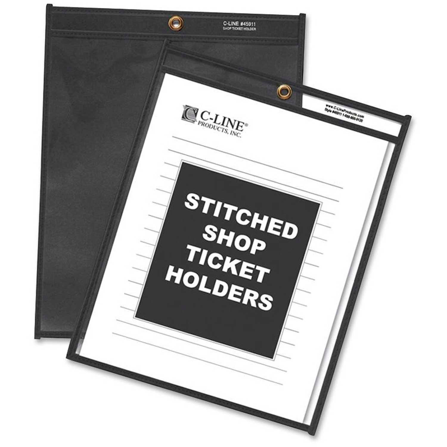 Stitched 25//BX 9 x 12 One Side Clear Shop Ticket Holders