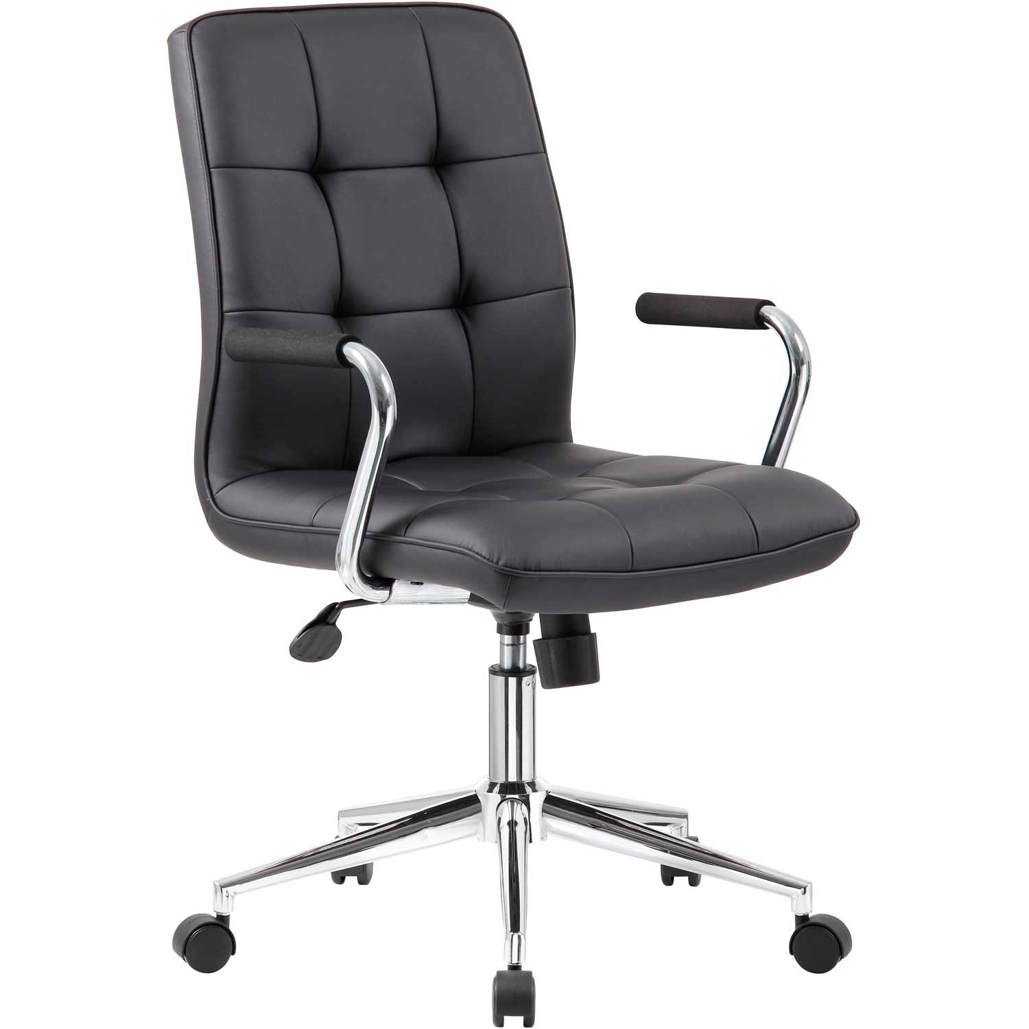 Excellent Chairs Vinyl Upholstered Boss Modern Office Chair With Home Interior And Landscaping Palasignezvosmurscom