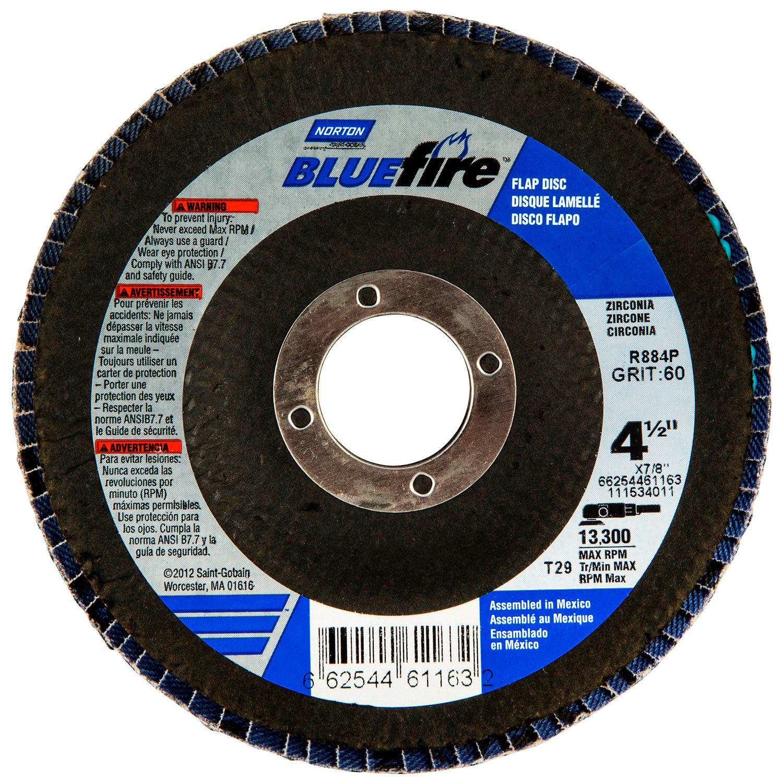 "BUY 50 GET 10 FREE T-29 Flap Disc 4 1//2/"" x 7//8/"" Aluminum Oxide Various Grits"