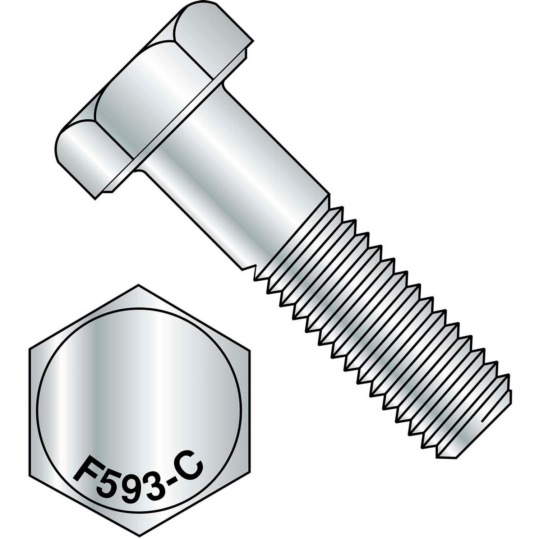 "1//2-13 x 10/"" Stainless Steel Hex Head Cap Screws Bolts, 10"