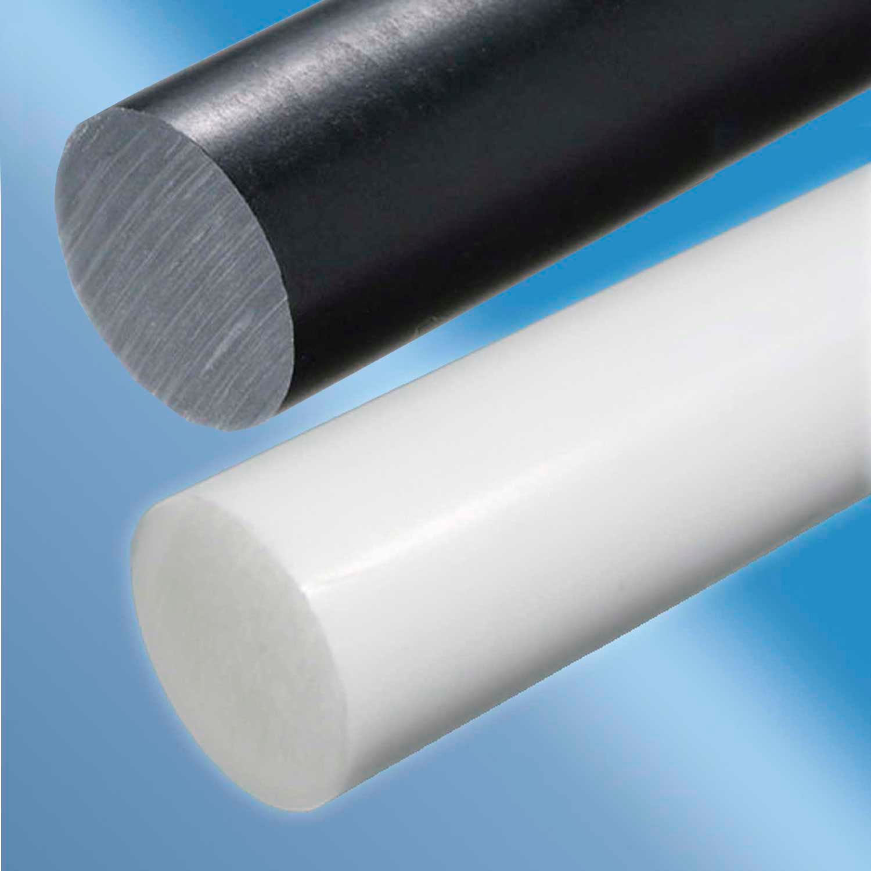 "Polyamide Extruded Plastic Rod 1.25/"" OD x 12/"" Length White Nylon 6//6"