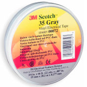 """3m™ Scotch® Vinyl Electrical Color Coding Tape 35-Gray, 3/4"""" X 66', 80610834063 - Pkg Qty 10"""