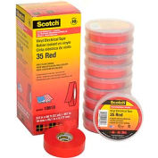 "3m™ Scotch® Vinyl Electrical Color Coding Tape 35-Red, 3/4"" X 66', 80610833909 - Pkg Qty 10"