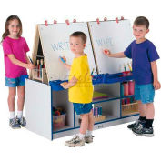 Jonti-Craft® Rainbow Accents® 4 Station Easel - Gray Top/Blue Edge