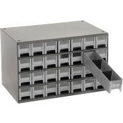 "Akro-Mils Steel Small Parts Storage Cabinet 19228 - 17""W x 11""D x 11""H w/ 28 Gray Drawers"