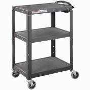 Global Industrial™ Steel Audio Visual & Instrument Cart - Black