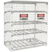 Global Industrial™ Horizontal 16 Cylinder Storage Cabinet, Manual Close