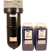 "Milton 1170-2 Compact Desiccant Dryer Metal Bowl 1/2"" NPT 250 PSI 70 Micron"