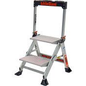 Little Giant® Jumbo Step Aluminum Ladder - 375 lb. Capacity, 2 Step - 11902