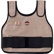 Ergodyne® 12000 Chill-Its® 6230 Phase Change Standard Cooling Vest W/Packs, Khaki, S/M