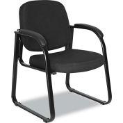 Alera® Reception Guest Chair - Fabric - Black