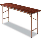 Alera® Laminate Folding Table, Rectangular, 60w x 18d x 29h, Walnut