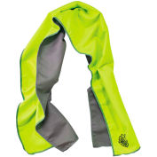 12669 Chill-Its® 6602MF Evaporative Microfiber Cooling Towel, Lime
