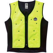Ergodyne® 12676 Chill-Its® 6685 Dry Evaporative Cooling Vest, Lime, 2XL
