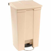 23 Gallon Rubbermaid Plastic Step On Trash Can - Beige