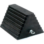 """Global Industrial™ Rubber Wheel And Tire Chock, 10""""L x 8""""W x 6""""H"""