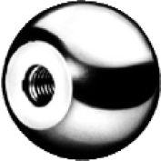 J.W. Winco DIN319-ST Steel Ball Knobs Tapped 50mm Diameter mm Length M12x1.75
