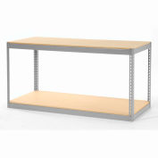 """Global Industrial™ Record Storage Without Boxes 72""""W x 30""""D x 36""""H - Gray"""