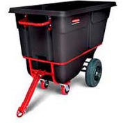 Rubbermaid® 1316-41 1 Cubic Yard Towable Plastic Tilt Truck