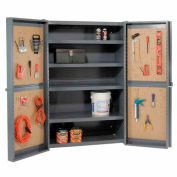 "Global™  ""Organizer"" Heavy Duty Storage Cabinet with Pegboard Panels 38x24x72"