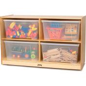 "Jonti-Craft® Jumbo Storage Unit with Clear Totes and Lids - 48""W x 18""D x 29.5""H"
