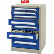 Lyon Modular Storage Drawer Cabinet PBS35303010010 Bench Height, Putty/Blue