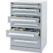 Lyon Modular Storage Drawer Cabinet DDS49303010040 Counter Height, Gray