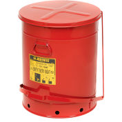 Justrite 21 Gallon Oily Waste Can, Red - 09700